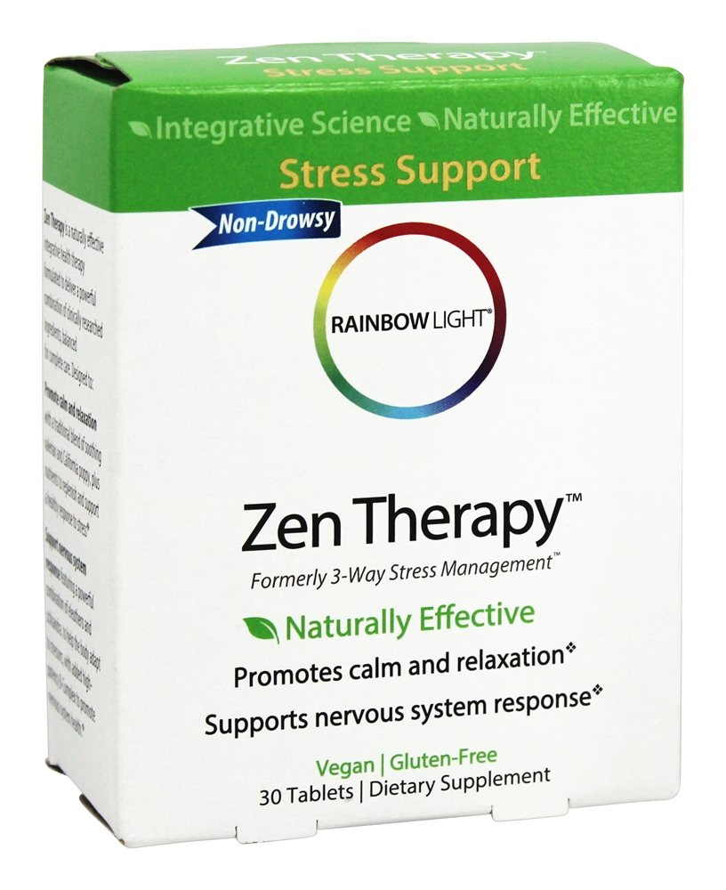 Rainbow Light - Zen Therapy - 30 Tablets (Formerly 3 Way Stress Management)