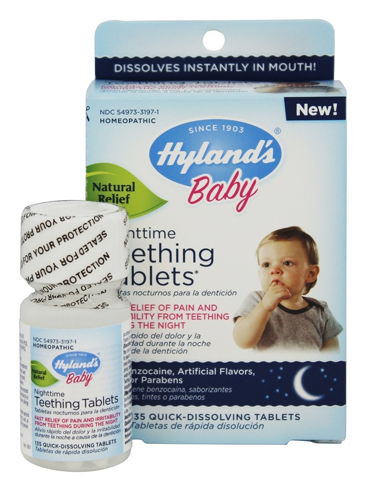 Hylands - Baby Nighttime Teething Tablets - 135 Tablets