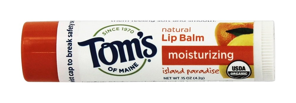 Tom's of Maine - Organic Moisturizing Natural Lip Balm Island Paradise - 0.15 oz.