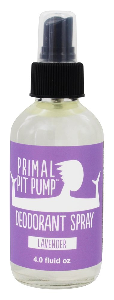 Primal Pit Paste - Pump Deodorant Spray Vanilla Lavender - 4 oz.