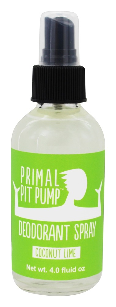 Primal Pit Paste - Pump Deodorant Spray Coriander Sage - 4 oz.
