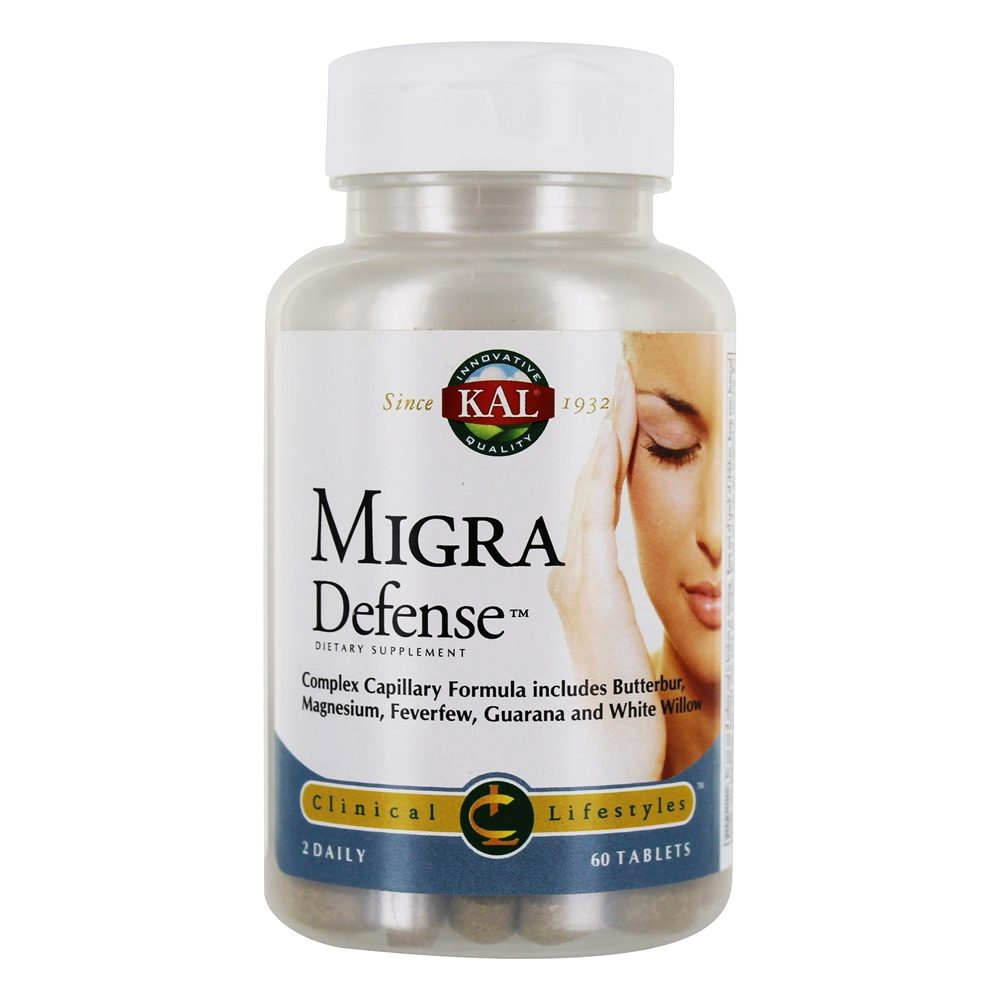 Kal - Clinical Lifestyles Migra Defense - 60 Tablets