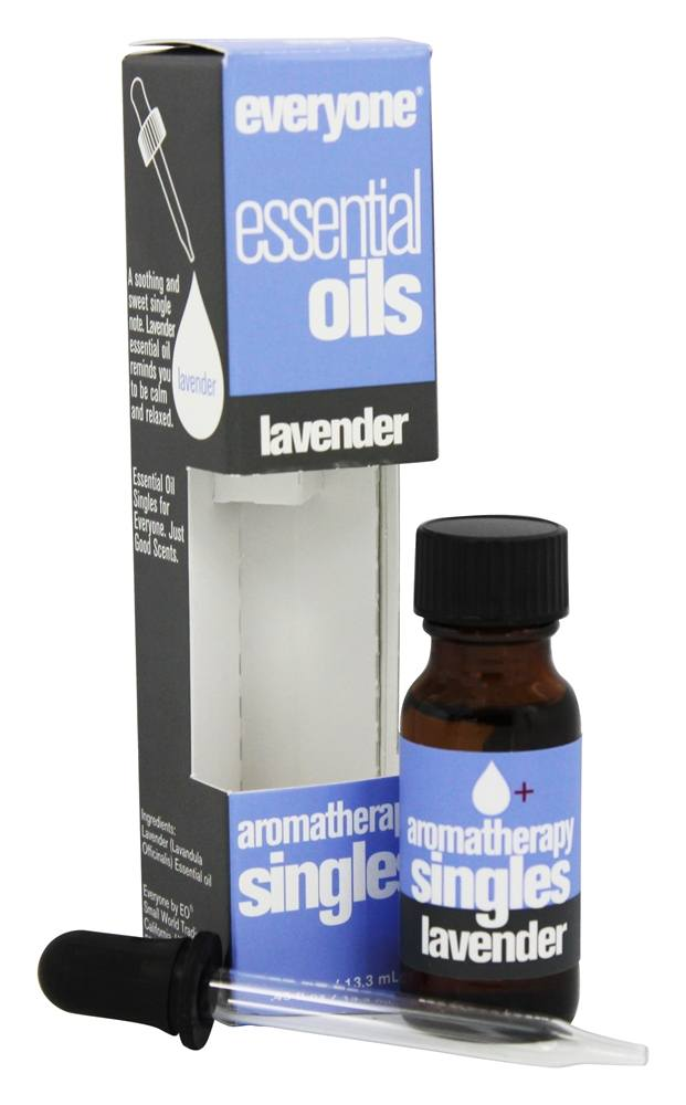 EO Products - Everyone Aromatherapy Singles Essential Oils Lavender - 0.45 oz.