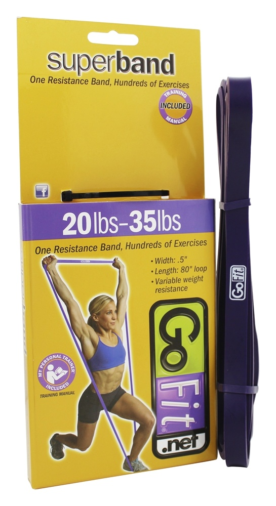 GoFit - Super Band 20-25 lbs. Purple - 41 in.