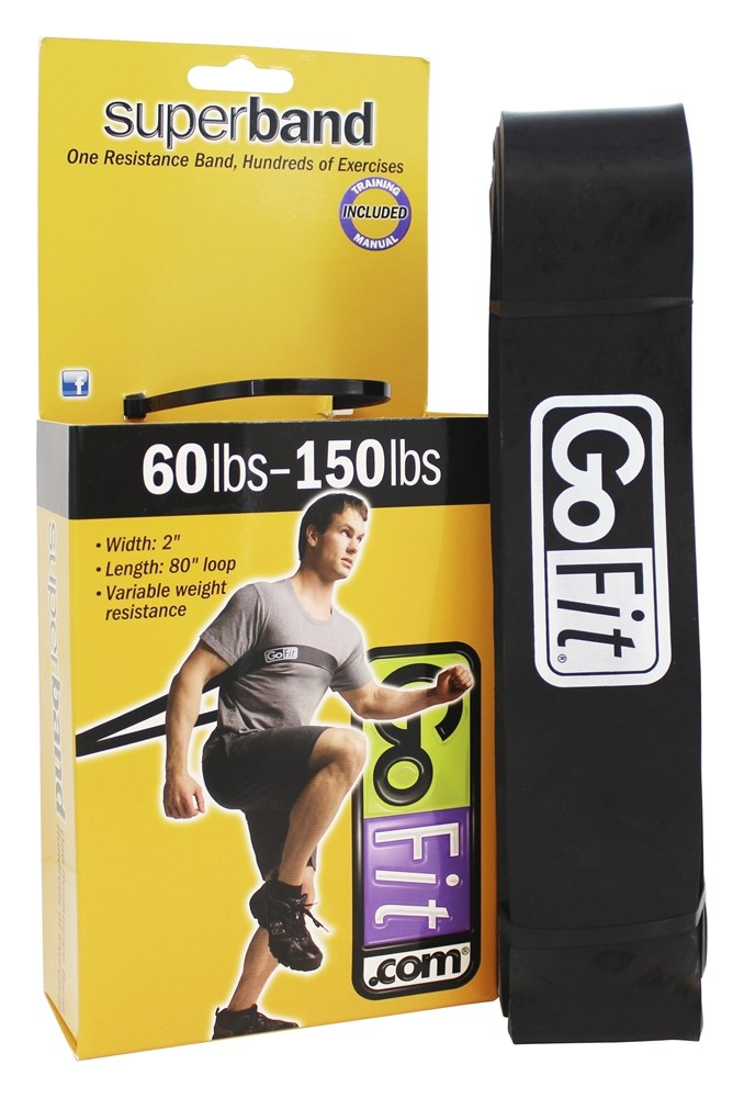 GoFit - Super Band 60-150 lbs. Black - 41 in.
