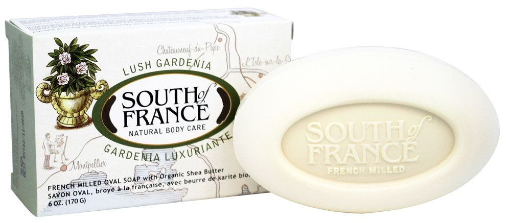 South of France - French Milled Vegetable Bar Soap Lush Gardenia - 6 oz.