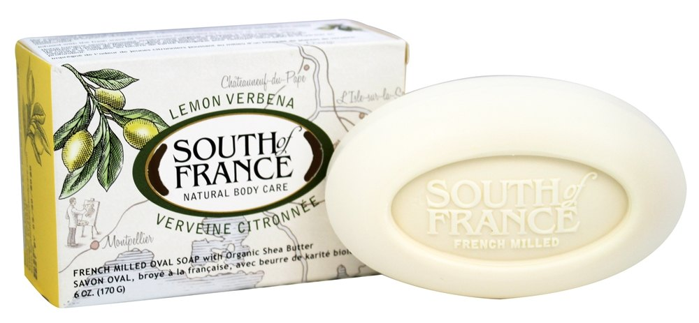 South of France - French Milled Vegetable Bar Soap Lemon Verbena - 6 oz.
