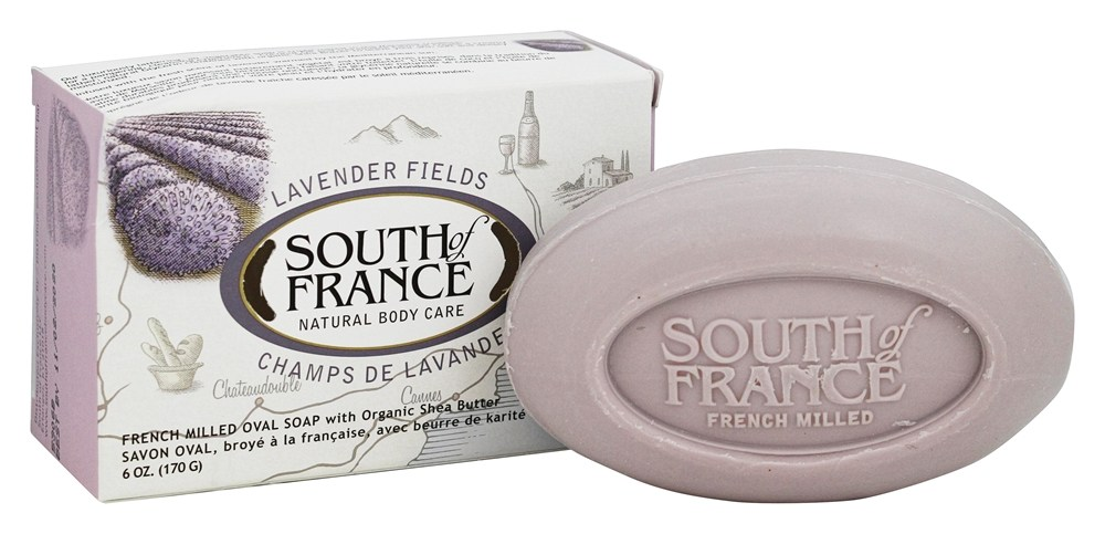 South of France - French Milled Vegetable Bar Soap Lavender Fields - 6 oz.