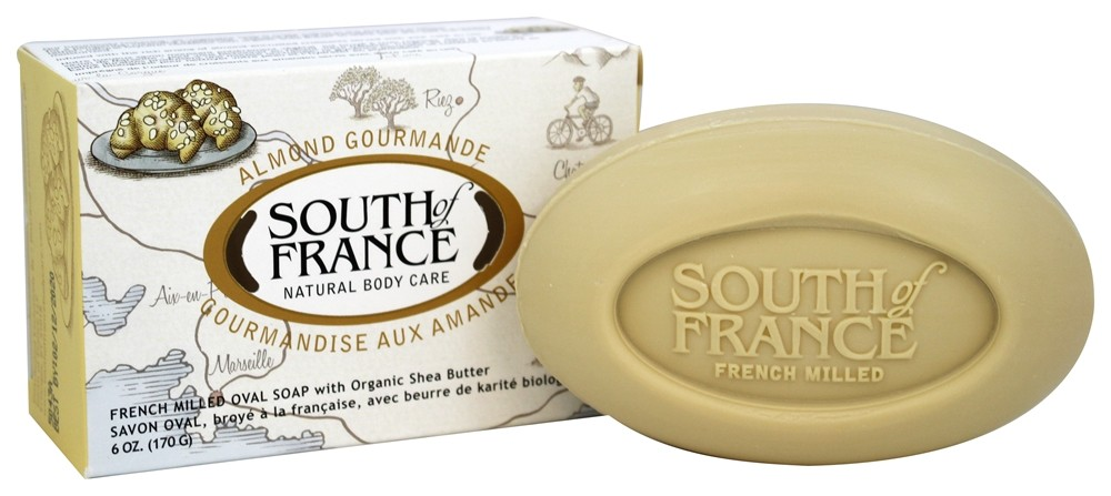 South of France - French Milled Vegetable Bar Soap Almond Gourmande - 6 oz.