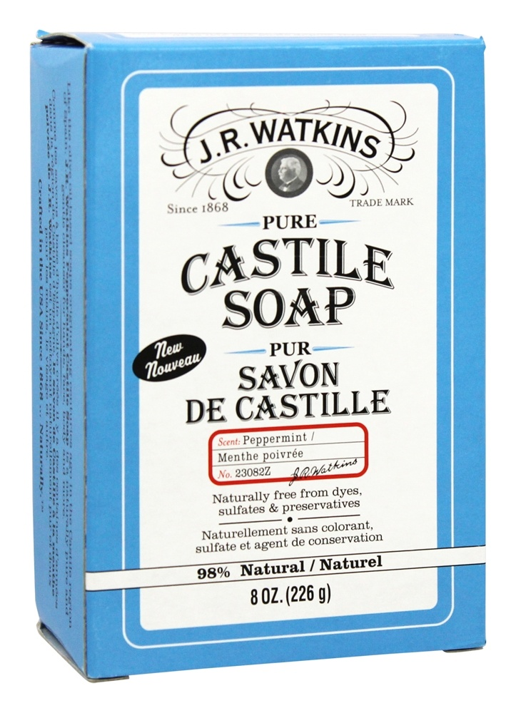 JR Watkins - Pure Castile Bar Soap Peppermint - 8 oz.