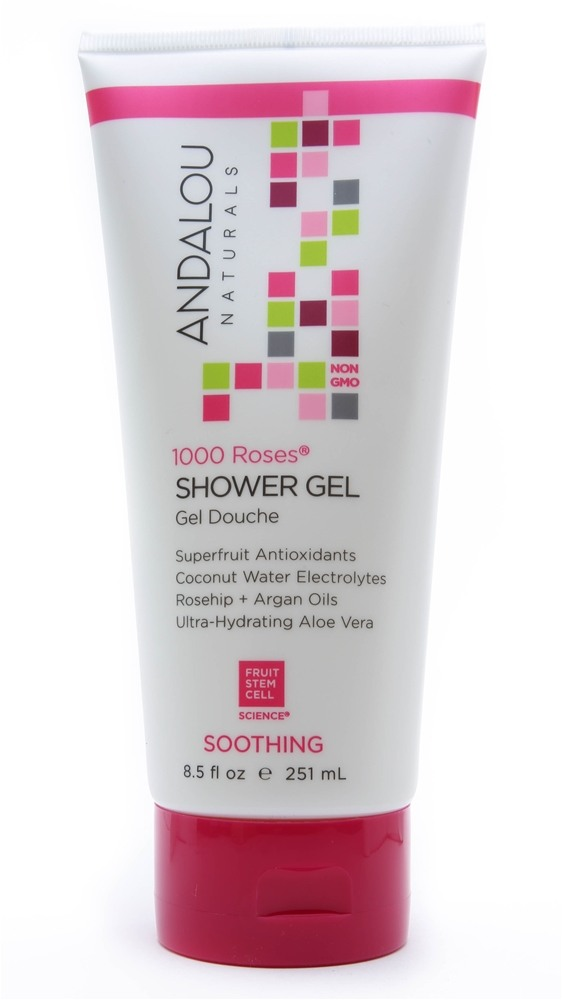 Andalou Naturals - Soothing Shower Gel 1000 Roses - 8.5 oz.