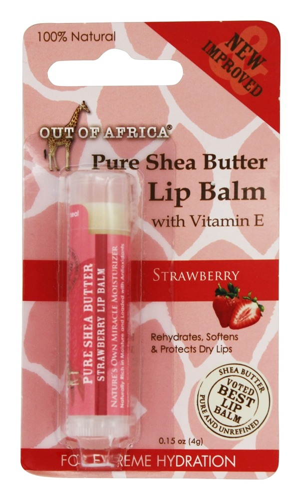 Out Of Africa - Pure Shea Butter Lip Balm Strawberry - 0.15 oz.