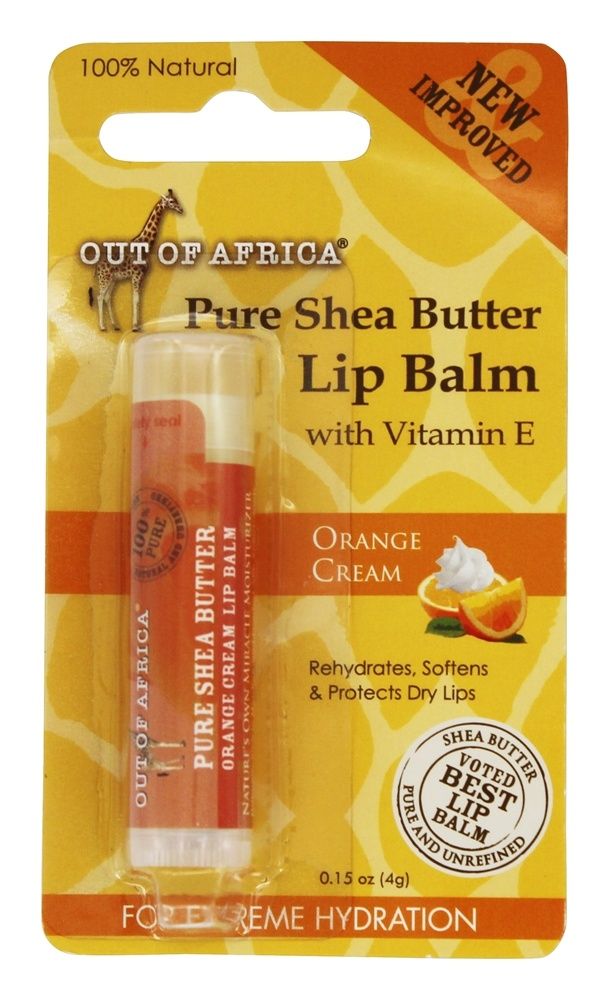 Out Of Africa - Pure Shea Butter Lip Balm Orange Cream - 0.15 oz.