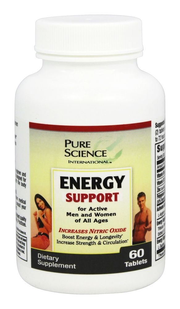 Pure Science International - Energy Support - 60 Tablets