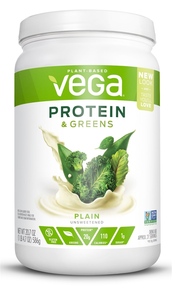 Vega - Protein & Greens Drink Mix Natural - 20.7 oz.