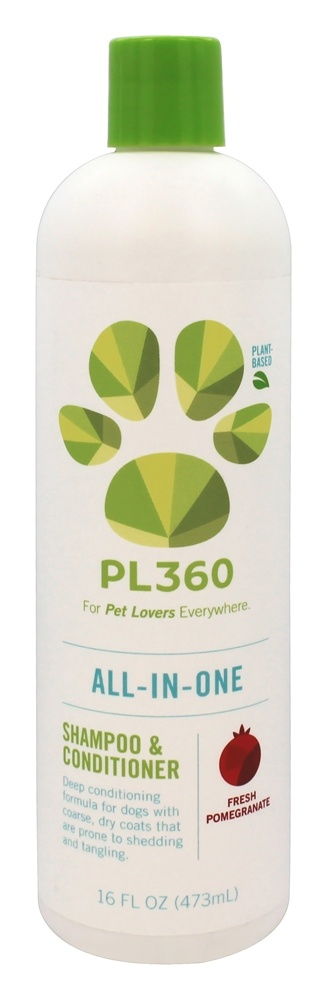 PL360 - All-In-One Shampoo & Conditioner For Dogs Fresh Pomegranate - 16 oz.