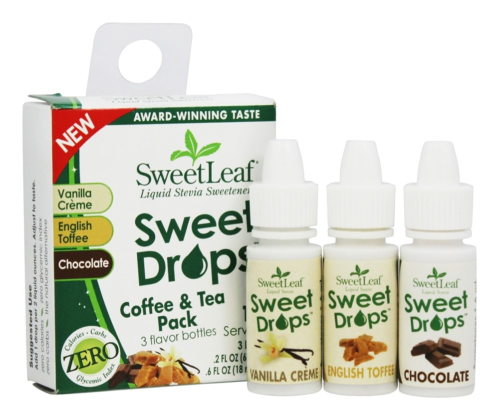 SweetLeaf - Sweet Drops Liquid Stevia Coffee and Tea Pack - 3 Bottle(s)