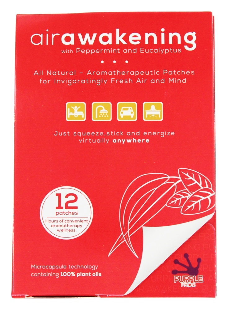Purple Frog - Air Awakening with Peppermint and Eucalyptus - 12 Patch(es)
