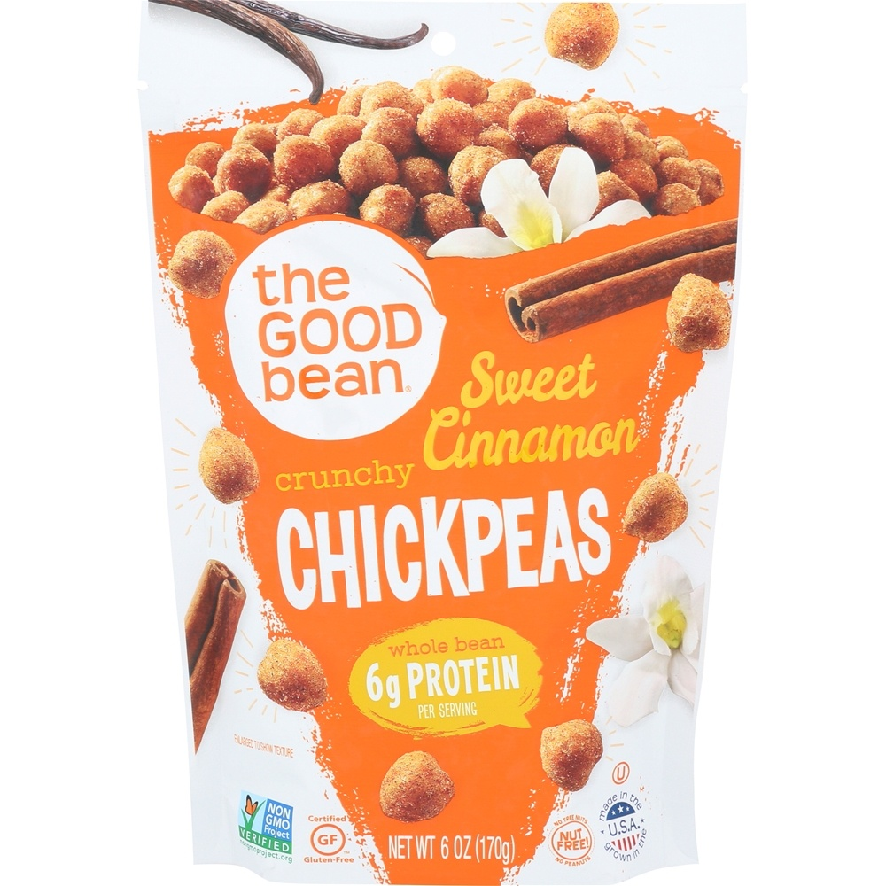 The Good Bean - All Natural Chickpea Snack Sweet Cinnamon - 6 oz.