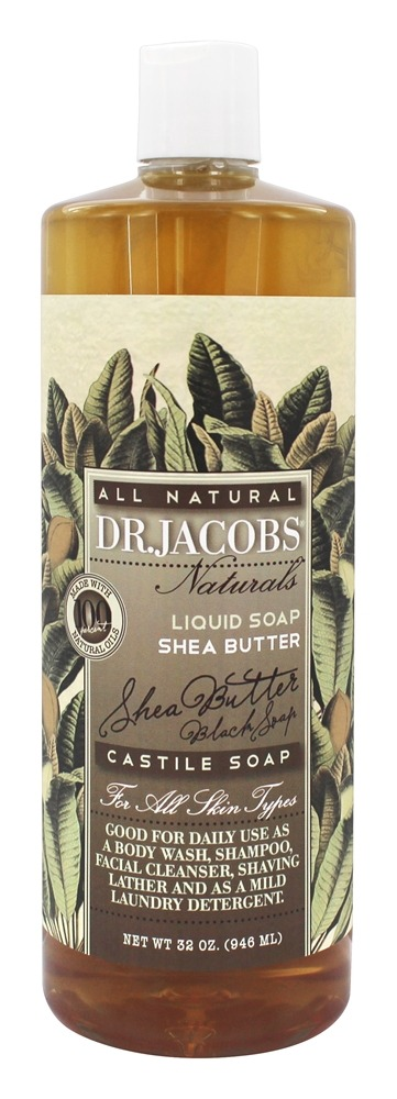 Dr. Jacobs Naturals - All Natural Liquid Castile Soap Shea Butter - 32 oz.