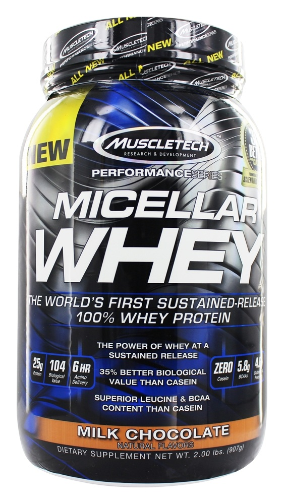 Muscletech Products - Micellar Whey Protein Milk Chocolate - 2 lbs.