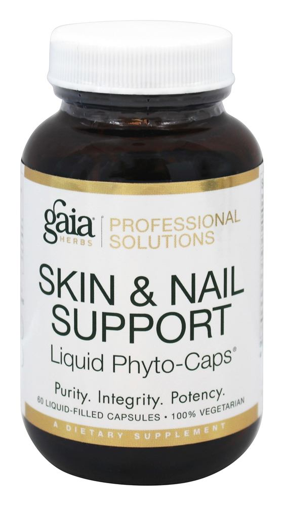 Gaia Herbs Professional - Skin & Nail Support - 60 Liquid-Filled Capsules