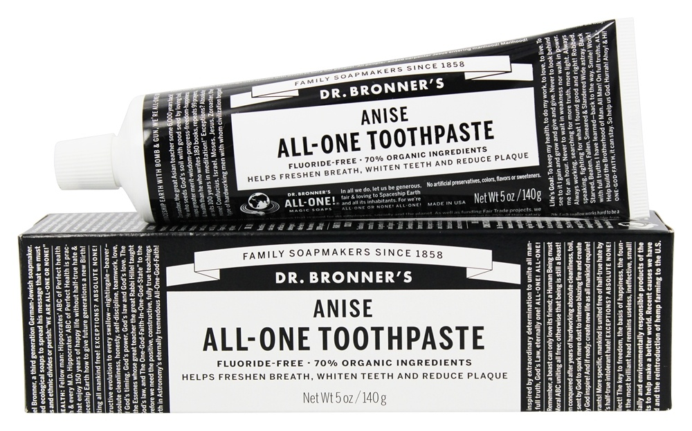 Dr. Bronners - All-One Toothpaste Fluoride Free Anise - 5 oz.