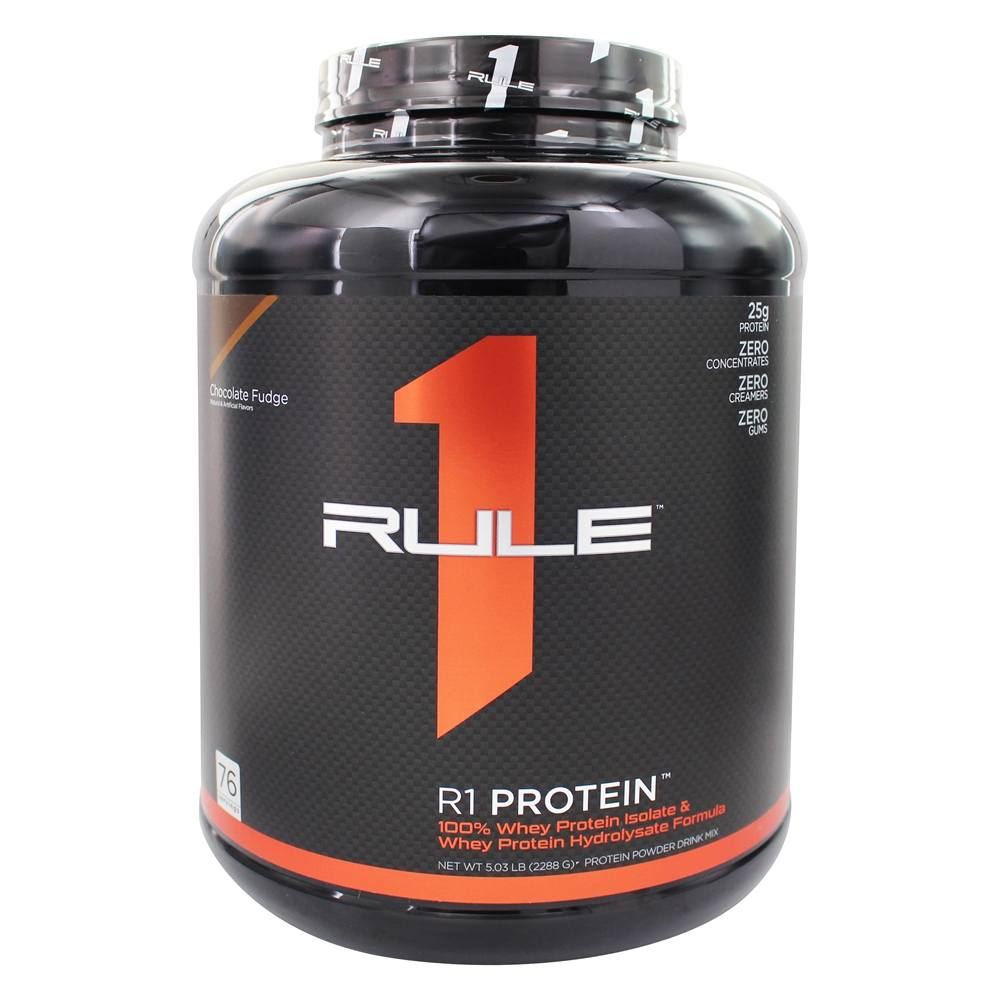 Rule One Proteins - R1 Protein Ultra Pure Whey Isolate/Hydrolysate Formula 76 Servings Chocolate Fudge - 5.3 lbs.