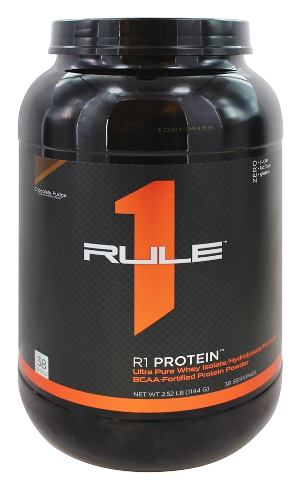 Rule One Proteins - R1 Protein Ultra Pure Whey Isolate/Hydrolysate Formula 38 Servings Chocolate Fudge - 2.52 lbs.