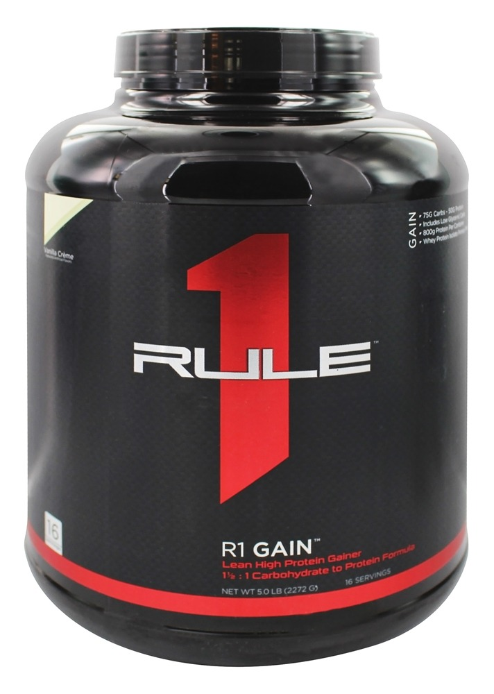 Rule One Proteins - R1 Gain 16 Servings Vanilla Creme - 5 lbs.