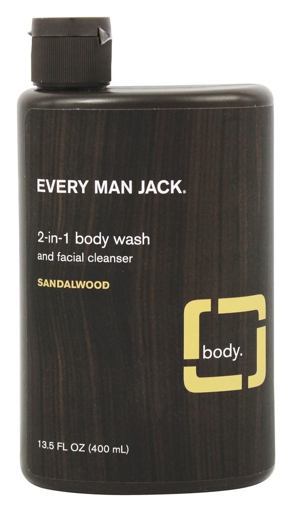 Every Man Jack - 2-in-1 Body Wash Sandalwood - 13.5 oz.