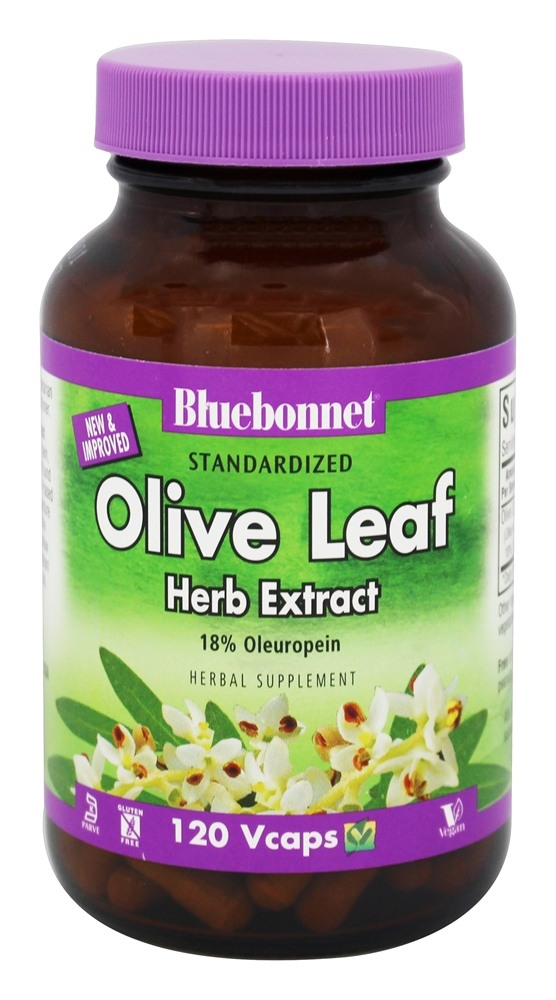 Bluebonnet Nutrition - Olive Leaf Herb Extract - 120 Vegetarian Capsules
