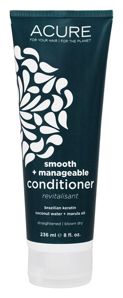 ACURE - Conditioner Straightening Brazilian Keratin, Coconut Water & Marula Oil - 8 oz.