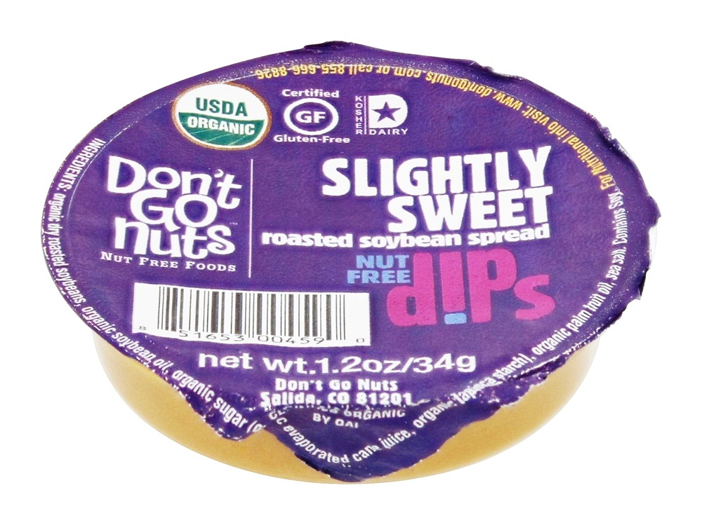 Don't Go Nuts - Roasted Soybean Spread Dip Cup Slightly Sweet - 1.2 oz.