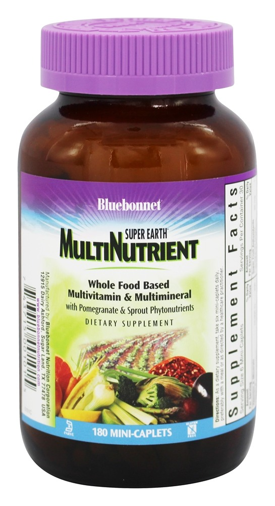 Bluebonnet Nutrition - Super Earth Multinutrient Formula - 180 Mini-Caplet(s)
