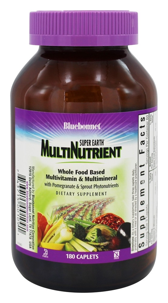 Bluebonnet Nutrition - Super Earth Multinutrient Formula - 180 Caplets