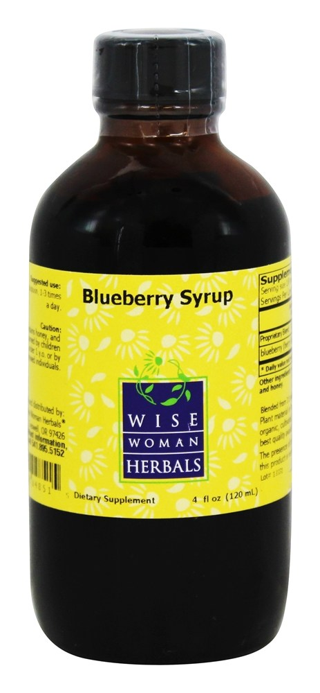 Wise Woman Herbals - Blueberry Syrup - 4 oz.