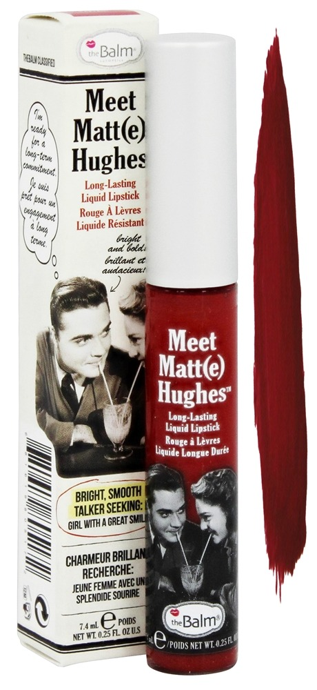 theBalm - Meet Matt(e) Hughes Lipstick Loyal Deep Red - 0.25 oz.