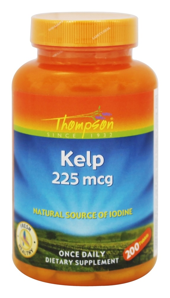 Thompson - Kelp Natural Source of Iodine 225 mcg. - 200 Tablets