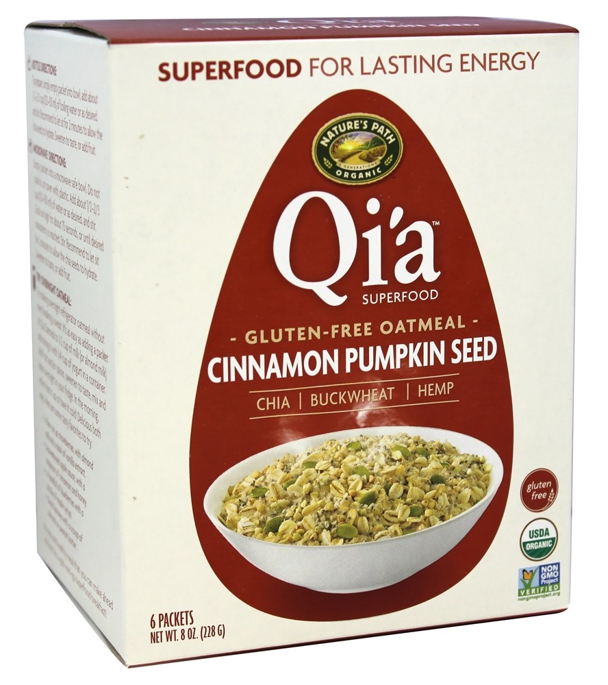 Nature's Path Organic - Qi'a Superfood Oatmeal Cinnamon Pumpkin - 6 Packet(s)