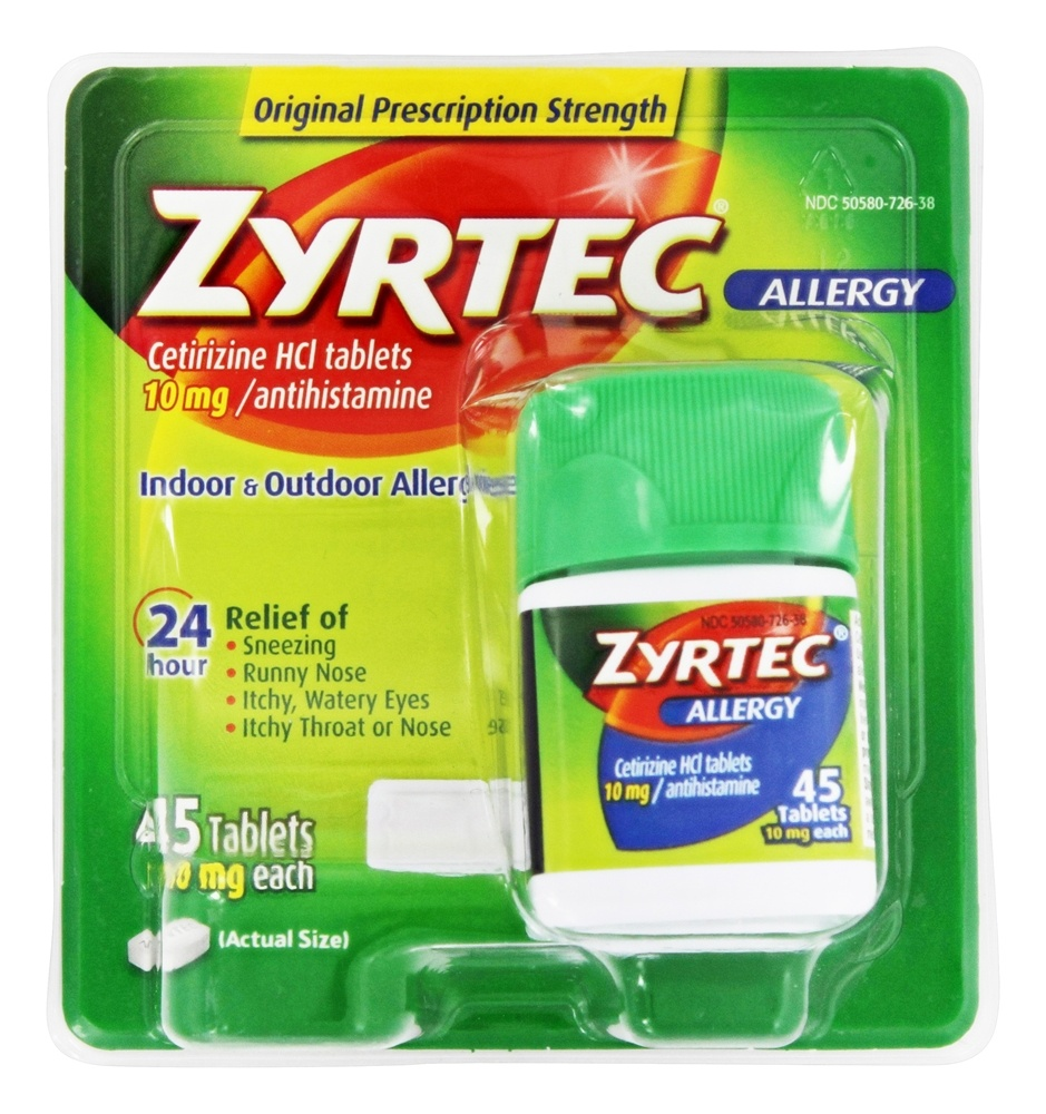 Zyrtec - Allergy 24 Hour Antihistamine - 45 Tablets