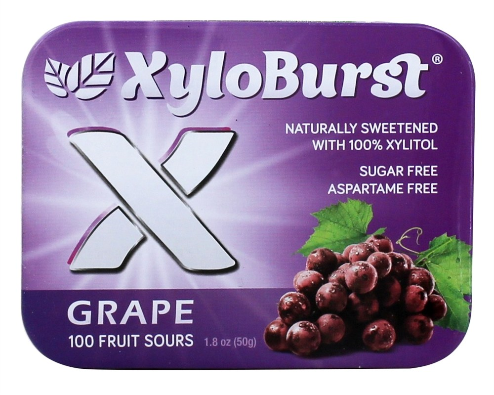 XyloBurst - Xylitol Fruit Sours Grape - 100 Piece(s)