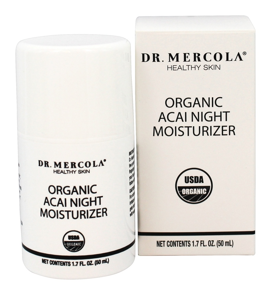 Dr. Mercola Premium Products - Organic Acai Night Moisturizer - 1.7 oz.