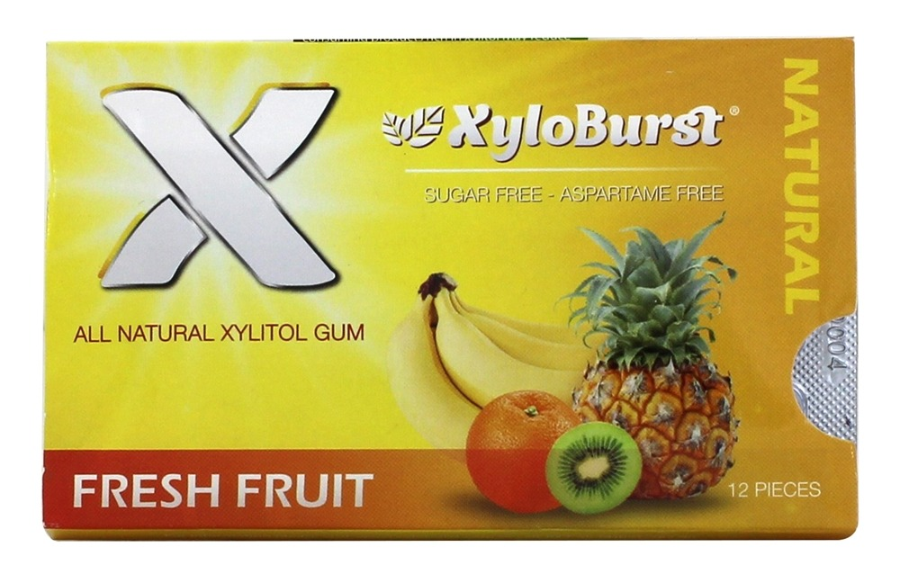 XyloBurst - Xylitol Chewing Gum Blister Pack Fruit - 12 Piece(s)