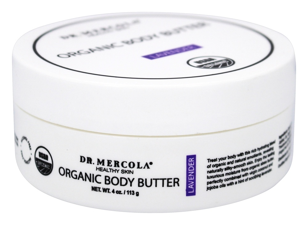Dr. Mercola Premium Products - Organic Body Butter Lavender - 4 oz.