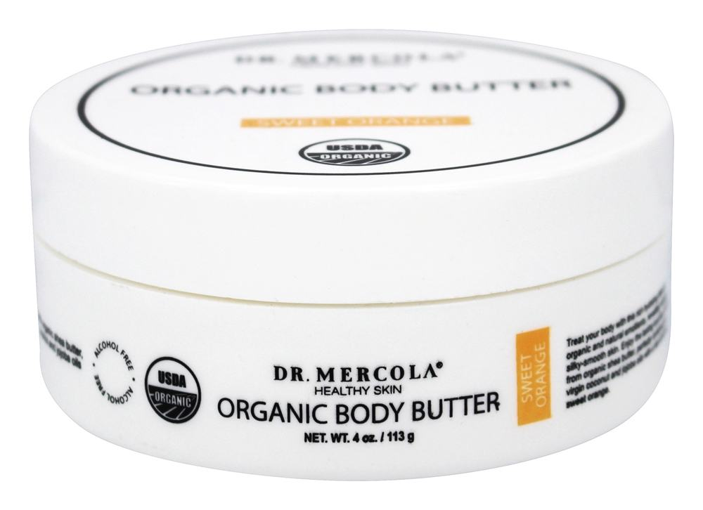 Dr. Mercola Premium Products - Organic Body Butter Sweet Orange - 4 oz.