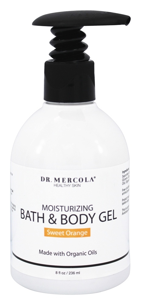 Dr. Mercola Premium Products - Moisturizing Bath & Body Gel Sweet Orange - 8 oz.