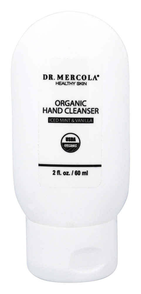 Dr. Mercola Premium Products - Organic Hand Cleanser Iced Mint & Vanilla - 2 oz.