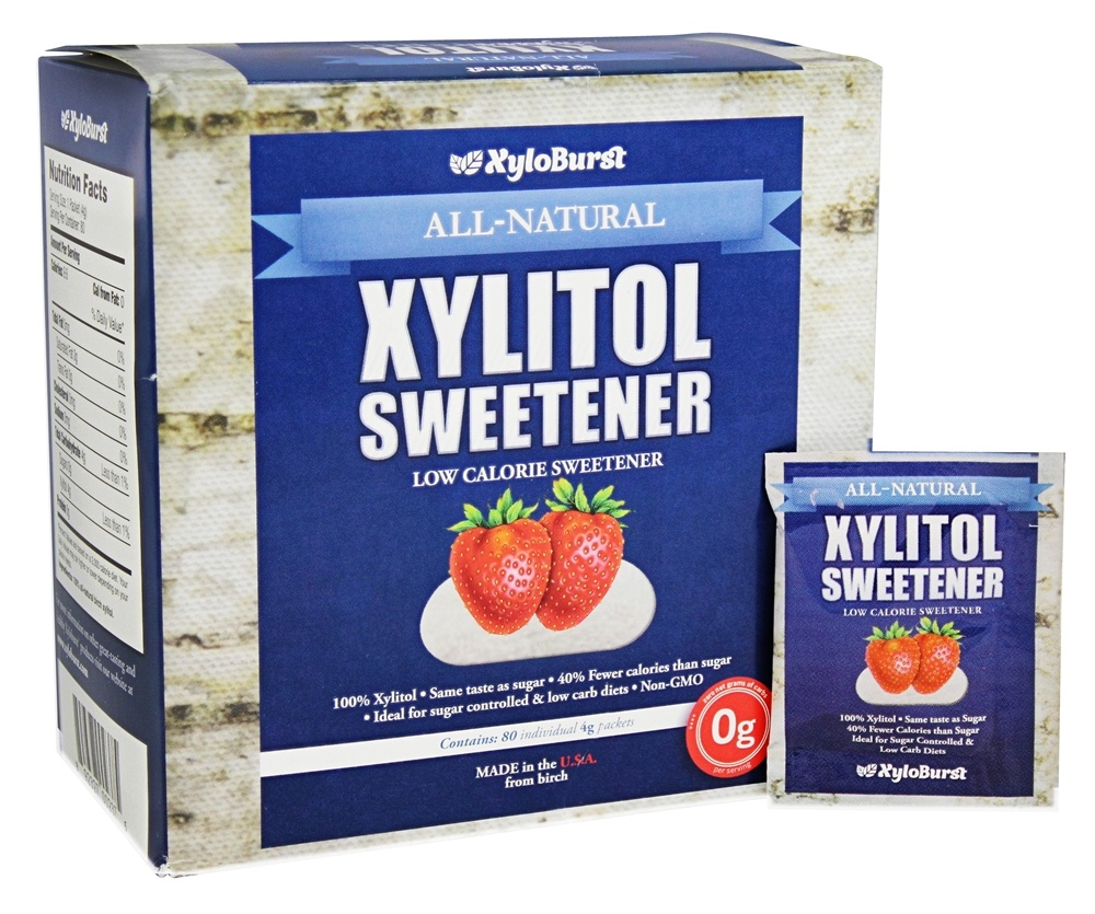 XyloBurst - All-Natural Xylitol Sweetener - 80 Packet(s)