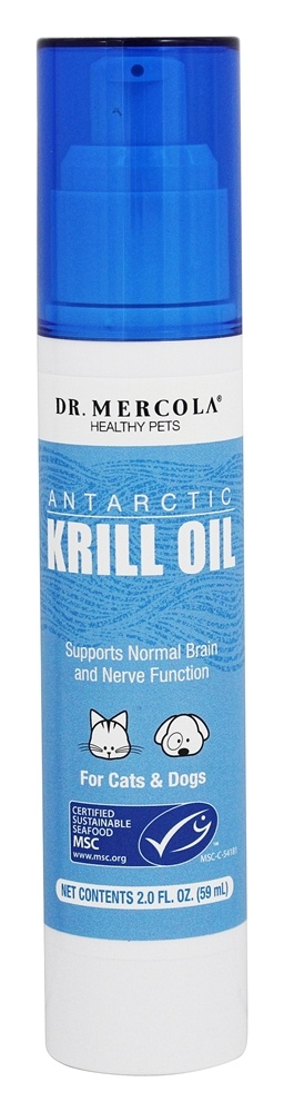 Dr. Mercola Premium Products - Antarctic Krill Oil For Cats & Dogs - 2 oz.